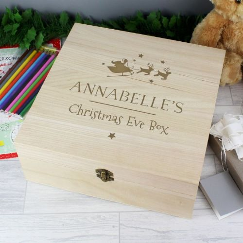 Personalised Christmas Eve Wooden Box